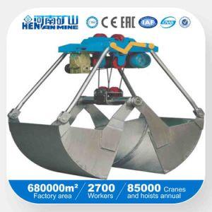 Hidráulica Clamshell Bucket Overhead Grab de la grúa para el manejo de materiales a granel