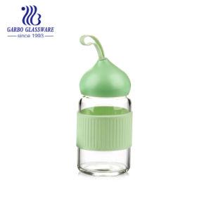 bottiglia materiale portatile di vetro di Pyrex della bottiglia di acqua 840ml con la coperta di tela