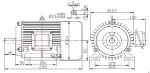 0.2-4kw 1500tr/min haute efficacité de l'alternateur générateur à aimant permanent