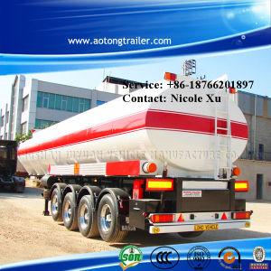 3車軸30t Flammable Liquid Fuel Oil Chemical Tank Semi Truck Trailer (49.9m³) (LAT9400GRY)