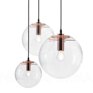 Pendente de esferas de vidro de poupança de energia de luz para decorar Quarto Lustre