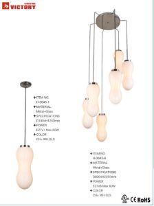 屋内照明の現代簡単なガラスシャンデリア