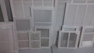Sistema de HVAC no teto grelhas de ar de retorno de aço