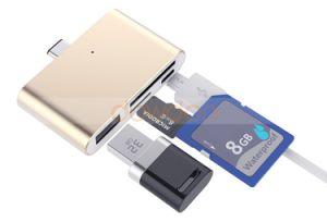 De Adapter van het Geheugen van de Lezer van de Kaart van het Type C BR van Hub van USB C OTG voor Micro- van MacBook Chromebook iPhone iPad