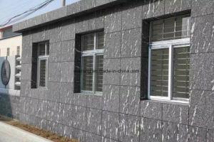 クラッディングまたはカバーのための自然な石造りの外壁のタイルの中国の漆黒の霧の雪の灰色の花こう岩