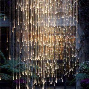 Hotel-Projekt-Kristallglas-Regen-Absinken-hängende Beleuchtung