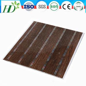250*7,5 mm modèle en bois Panneau PVC PVC Panneau au plafond et panneau mural (Rn-176)
