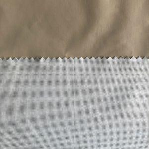 230t Full terne taffetas de nylon Tissu à armure toile avec imprimé laiteux cautionné membrane pour un vêtement