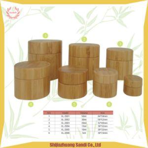 Ecológico de vidro branco Bambu Cosméticos copo de plástico, jarra de Cosméticos Embalagem