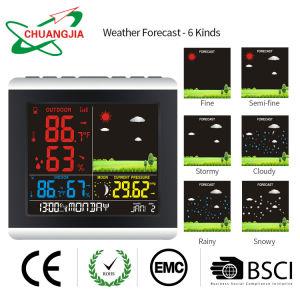 Drahtloses Wettervorhersage-Station-Thermometer-Hygrometer-Barometer mit Atomalarmuhr