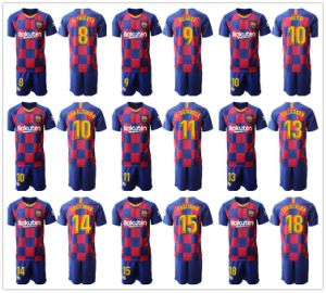 Barcelona 10 Messi O. Dembele Home Soccer Jersey uniformes de fútbol camisetas