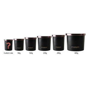 O OEM/ODM Flameless grossista personalizada personalizada Vidro preto Vela Perfumada com tampas de Rosas