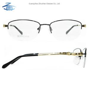 Populaires de haute qualité de nouvelle conception personnalisée en usine des verres de lunettes de métal du châssis de lunettes optiques des femmes