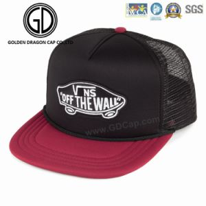Painel 6 vermelho Material bordadas para Tampa Snapback Hat