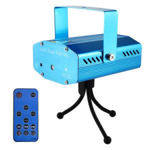 Mini eficacia especial DJ sonido láser equipos de iluminación de escenario verde