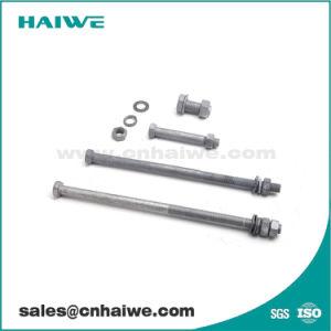 Galvanisé à chaud HDG les vis de la machine pour la Pole du matériel de ligne