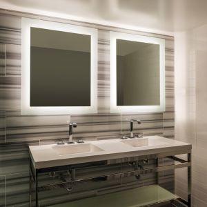 Fábrica da China Jinghu Estilo Conciso Horizontal Vertical do Espelho Retrovisor roupões de banho com retroiluminação LED mobiliário inteligente espelho iluminado