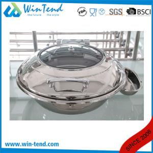 Aço inoxidável electrolítico a parte superior do rolo de luxo tampa de vidro Rodada Amolgamento cápsula para venda com suporte de Combustível