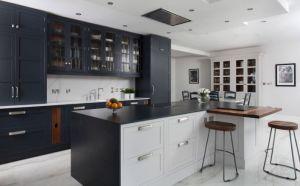 O design moderno e clássico mobiliário em madeira maciça de estilo do agitador de luxo armário de cozinha