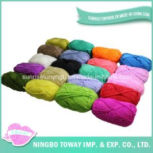 Anel de fantasia de fibras de nylon personalizados lã acrílica lado tricotar