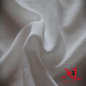 白いジャカード服のための絹の軽くて柔らかいファブリックしわ