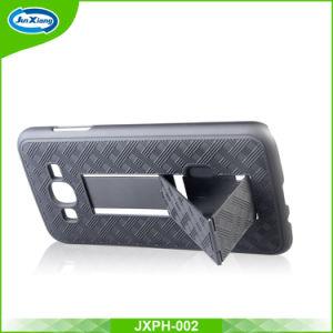 iPhone 6/6sのためのKickstandのケースとのJ3 Prime/J3 2017年のための細いハイブリッド装甲パソコンの電話箱