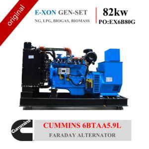 Conjunto de gerador de gás 80kw Cummins 6btaa 5.9L (NG, GPL, biogás, biomassa)