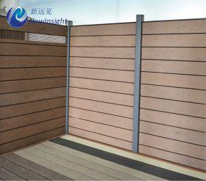 木製のプラスチック合成及びアルミニウム塀システム、WPCの塀212 x 20mm