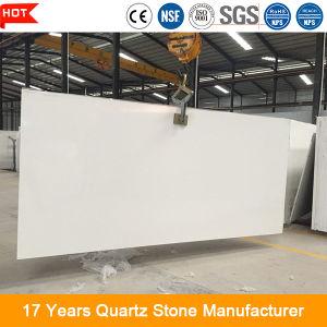20mm polierten weiße Quarz-Stein-Platte für KücheCountertop