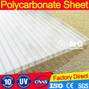 4, 6, 8, 10mm de pared doble lámina de policarbonato hueco de la hoja de cubierta