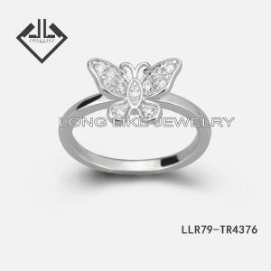 925純銀製の罰金の宝石類のリング