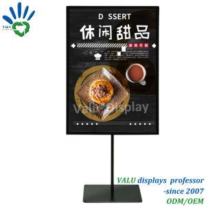 포스터 기치 널 대 진열대를 광고하는 도매 A3 A4 A5 금속 테이블 마분지