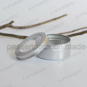 5oz Lata de Té de aluminio con tapa de la ventana