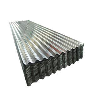 Matériau de construction en acier ondulé galvanisé recouvert de zinc tôle de toit