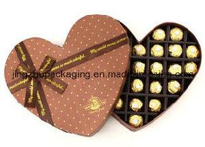 Papel rígido en forma de corazón el embalaje de cartón Caja de regalo para el Chocolate