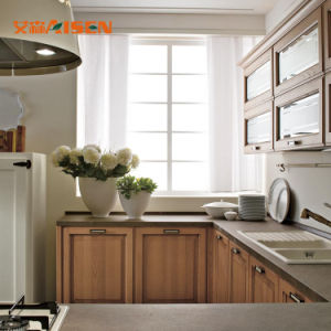 Luxo estilo americano sólidos de madeira armário de cozinha personalizada da China