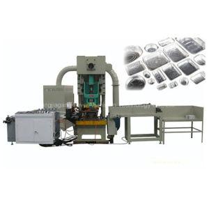 Contenedor de lámina de aluminio que hace la máquina
