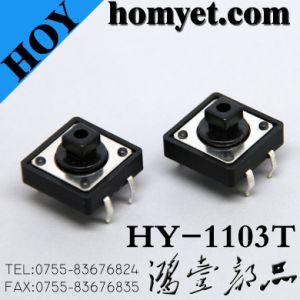 Interruttore di tatto di alta qualità con 12*12*7.3mm un TUFFO di quattro Pin (HY-1103T)