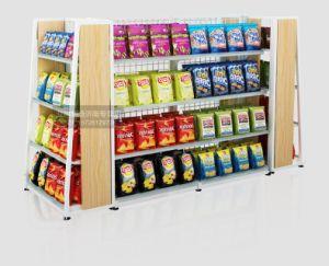 Supermarkt-hölzernes Metall kombiniertes Bildschirmanzeige-Fach mit guter Qualität