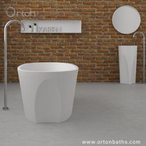 芸術のマット円形の白いカラーアクリルの卸し売り浴槽