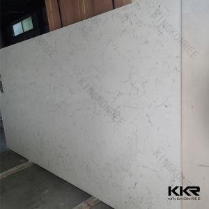 2cm Caesarstoneのカウンタートップのための白い人工的な水晶平板