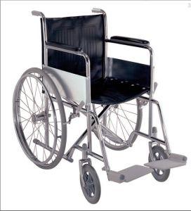 Стальные ручной инвалидных колясок в лобби гостиницы (C-45)