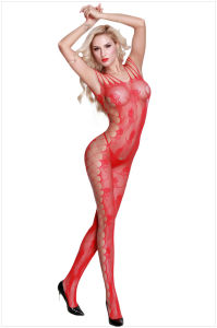 L'entrejambe ouvert rouge Sexy teddy Lingerie Bodystocking