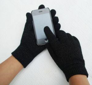 完全なタッチ画面の編まれた方法魔法の冬の手袋(YKY5437)