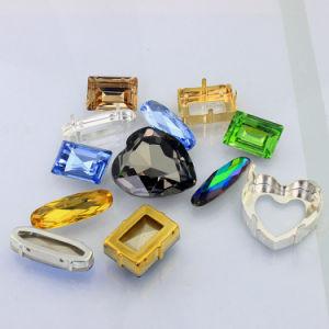 Punktrückseitiger Octagon-Kristallraupe für Hochzeits-Kleid