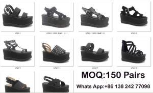 Les femmes nouvelle forme de mules haute plate-forme chaussures sandales de filtre en coin