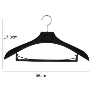 Популярные пальто черного цвета с резиновым покрытием подвес с несколькими вешалками для установки в стойку