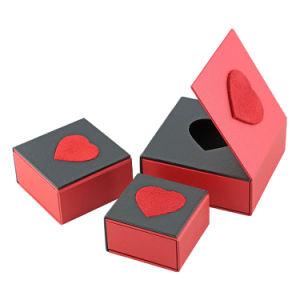 Anel tipo pendente de bracelete vermelho Brinco Jóias Embalagem Caixa de oferta