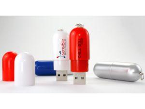 Творческие цветные пластмассовые капсулы таблетки флэш-накопитель USB с пера логотип