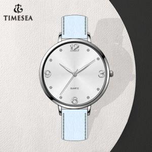 Натуральная кожа Quartz женщин Часы наручные часы (71384)